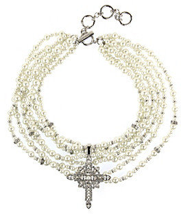 Givenchy Silvertone Drama Necklace