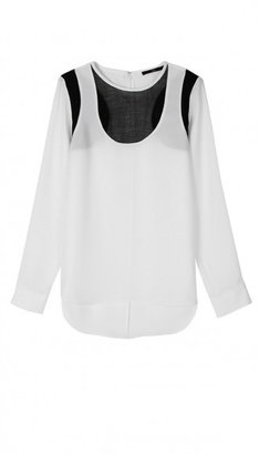 Tibi Bibelot Crepe Long Sleeve Top