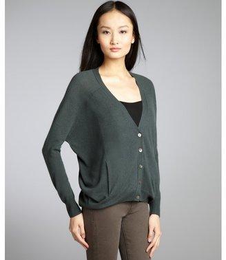 Autumn Cashmere evergreen cashmere oversized boyfriend cardigan