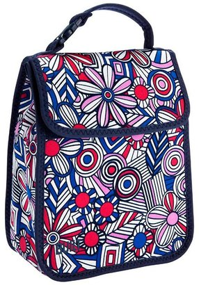 Container Store Lunch Sack Mosaic Flowers