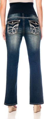 Motherhood Wallflower Petite Secret Fit Belly Boot Cut Maternity Jeans