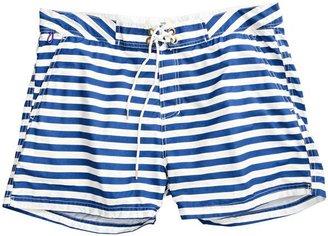 Scotch & Soda Stripe Swim Trunk Blue