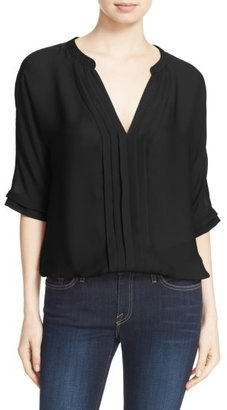 Women's Joie 'Marru' Semi-Sheer Silk Blouse $208 thestylecure.com