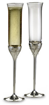 Vera Wang Wedgwood Love Knots Toasting Flutes (Set of 2)