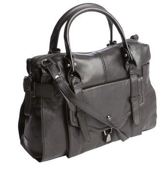 Kooba black leather 'Kendal' top handle bag