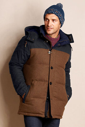 Lands' End Men's Wool Down Parka