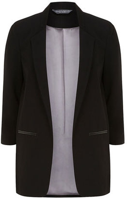 Dorothy Perkins Tall black soft longline jacket