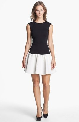 Erin Fetherston Erin by Mixed Media Fit & Flare Dress