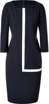 Ports 1961 Navy Wool-Blend Sheath Dress