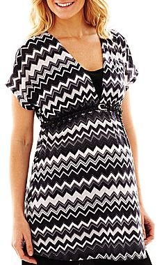 JCPenney Maternity Belted Layered Top