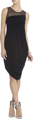 Adina Side-Draped Sleeveless Dress