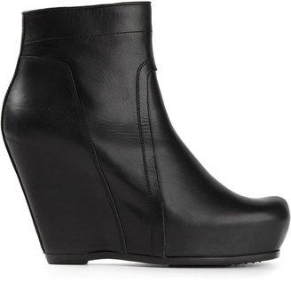 Rick Owens platform wedge boots