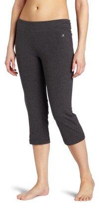 Danskin Women's Sleek Fit Crop Pant with Comfort Waistband