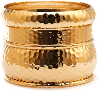 Forever 21 Standout Dimpled Bangle Set
