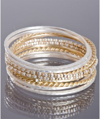 Leslie Danzis set of 10- silver and gold bangles