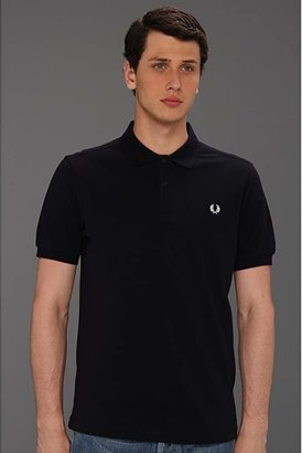 Fred Perry Slim Fit Solid Plain Polo (Black/Chrome) Men's Short Sleeve Pullover