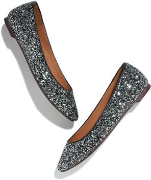 Madewell The sidewalk skimmer in glitter