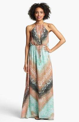 Vince Camuto Python Print Chiffon Maxi Dress