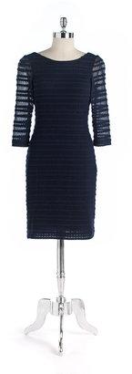 Kay Unger Crochet Scoopneck Dress