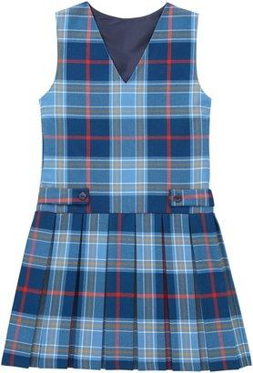 Unbranded Girls' Tartan School Tunic, Blue/Multi