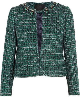 J.Crew Crystal-embellished tweed jacket