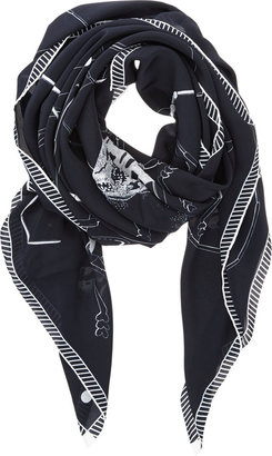 Forget Me Not Nocturne Square Scarf