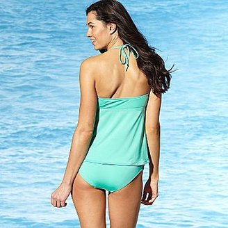 JCPenney a.n.a® Smocked Tankini Swim Top