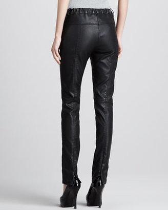 Halston Skinny Faux-Leather Pants