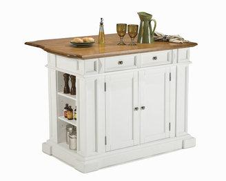 JCPenney Home Styles Oak Top Breakfast Bar Kitchen Island