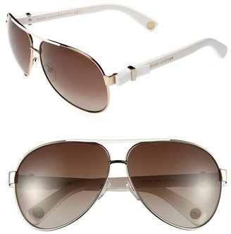 Marc Jacobs 63mm Metal Aviator Sunglasses