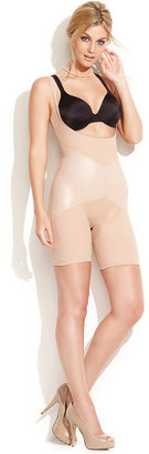 Spanx Star Power by Firm Control Lady Luxe Open-Bust Mid-Thigh Body Shaper 2181 (Only at Macy's)