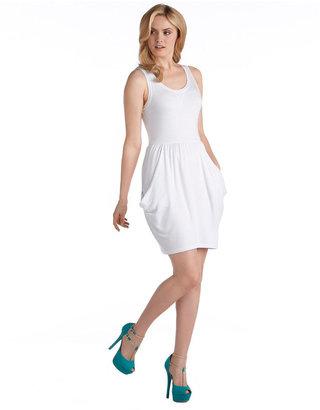 Kensie Sleeveless Draped French Terry Dress