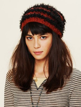 Free People Feather Yarn Striped Beanie
