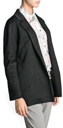 MANGO Outlet Jacquard Oversize Blazer