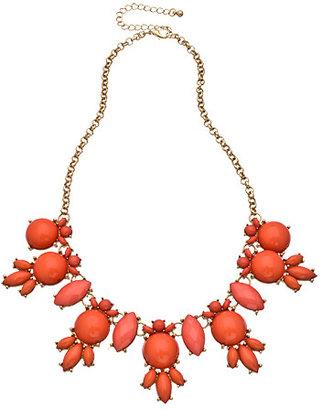 Blu Bijoux Gold and Coral Bubble Bib Necklace
