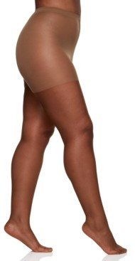 Berkshire Women's Queen Plus Size Ultra Sheer Sandalfoot Pantyhose 4413