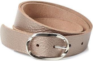 Pewter Leather Formal Belt