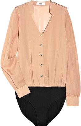 Tibi Silk and cotton bodysuit