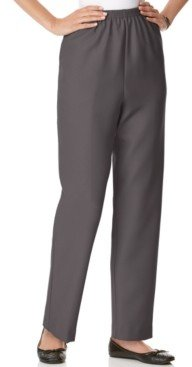 Alfred Dunner Classics Pull-On Straight-Leg Pants in Petite and Petite Short