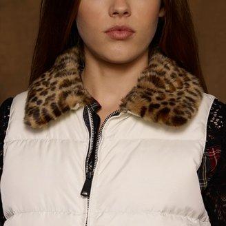 Denim & Supply Ralph Lauren Cheetah-Collar Down Vest