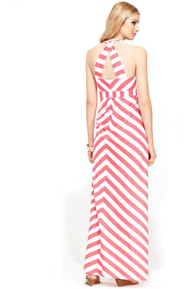 INC International Concepts Dress, Sleeveless Chevron Maxi