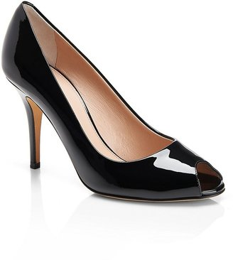 HUGO BOSS 'Vanila' | Patent Leather Open Toe Pumps by BOSS