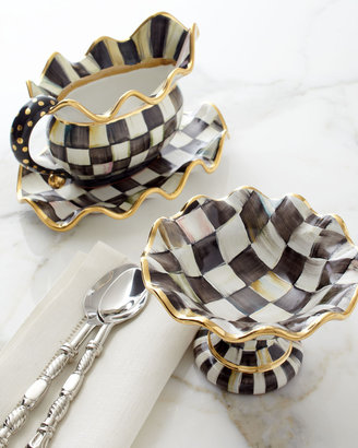 Mackenzie Childs MacKenzie-Childs Small Courtly Check Fluted Oval Platter