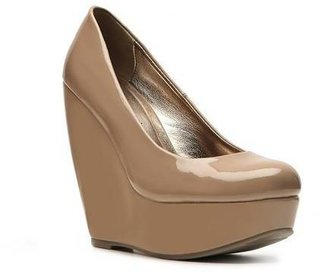 Madden-Girl Craftty Patent Wedge Pump