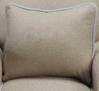 Child to Cherish Heirloom Pillow Linen - Blue Piping