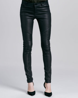 Vince Moto Leather Pants, Black