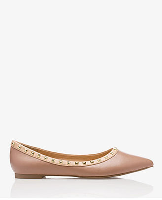 Forever 21 Stud Queen Faux Leather Flats