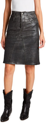 Etoile Isabel Marant Fiali Leather Skirt