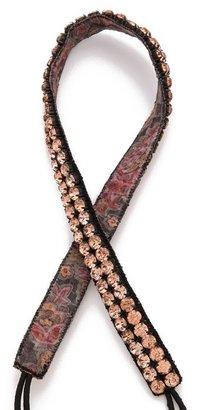 Deepa Gurnani Double Crystal Row Headband