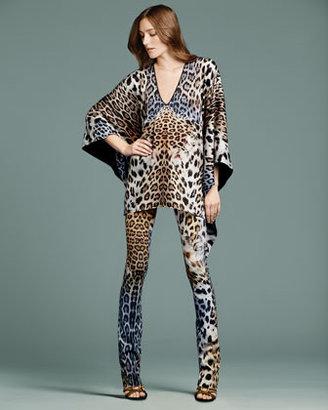 Just Cavalli Leopard-Print Slightly Flared Pants